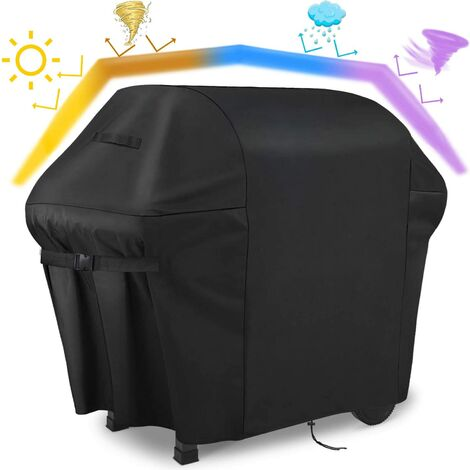 Barbecue Cover, Outdoor Barbecue Cover 100% Waterproof - 600D Barbecue Cover Oxford Fabric Won't Fade Barbecue Cover Plancha Cover for Weber Char Broil (152x124x75CM)