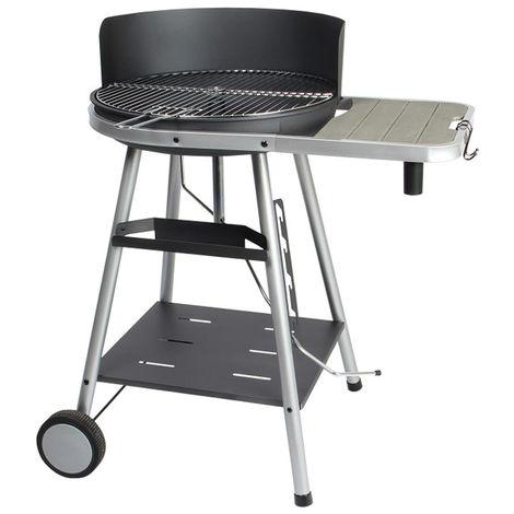 Barbecue de jardin à charbon de bois en acier - Dim : 86 x 63,5 x 95 cm - Fabrication française -