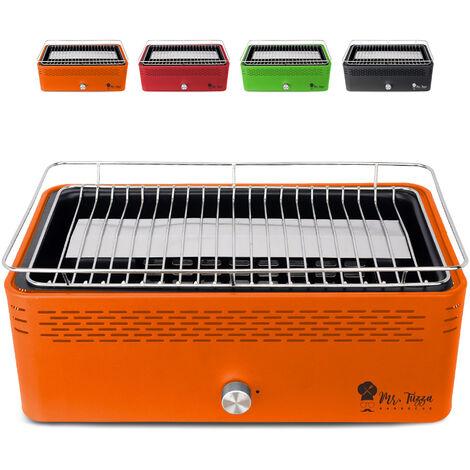 Barbecue de table au charbon de bois sans fumée avec ventilateur Merapi
