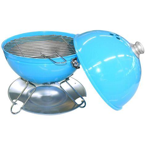 Barbecue de table California - Avec couvercle - Turquoise - Bleu