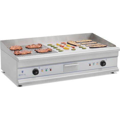 Barbecue Electrique Inox Planche A Snacker Grill Professionnel Plancha Gril100Cm
