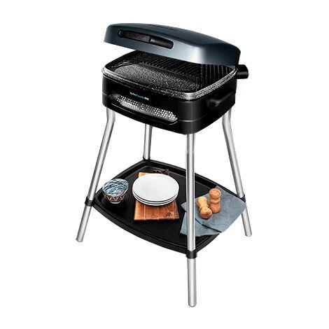 """main image of """"Barbecue électrique perfectcountry bbq, puissance 2000w, revêtement antiadhésif, couvercle rabattable, thermostat réglable, plat"""""""