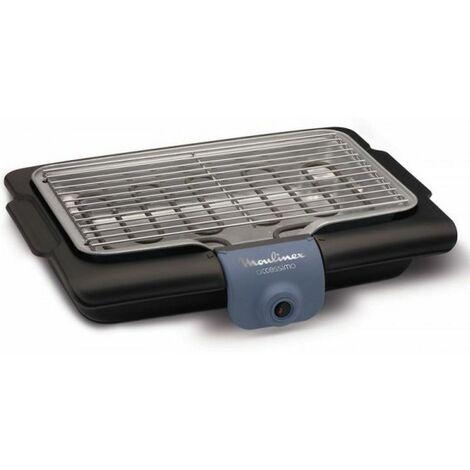 barbecue électrique posable 2100w - bg134812 - moulinex