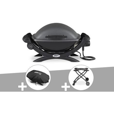 Barbecue électrique Q 1400 + Housse + Chariot - Weber