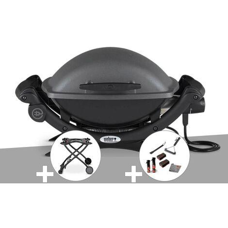 Barbecue électrique Q 1400 - Weber + Chariot + Kit de nettoyage