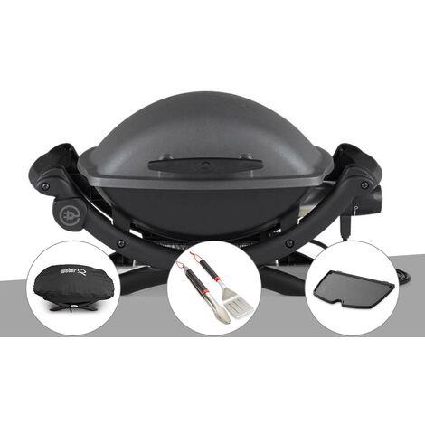 Barbecue électrique Q 1400 - Weber + Housse + Kit ustensiles + Plancha