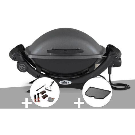 Barbecue électrique Q 1400 - Weber + Kit de nettoyage + Plancha