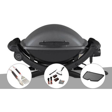 Barbecue électrique Q 1400 - Weber + Kit ustensiles + Kit de nettoyage + Plancha