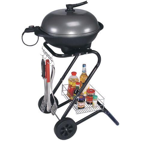 """main image of """"Barbecue électrique sur pied 2en1 BBQ avec couvercle thermostat 2000W ML-Design®"""""""