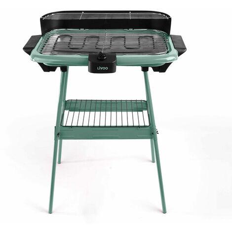 barbecue électrique sur pieds 2000w vert - dom297ve - livoo