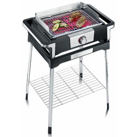 barbecue électrique sur pieds 3000w noir/inox - pg8117 - severin
