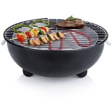 Barbecue électrique Tristar BQ-2880 – Barbecue de table – Design rond– Noir