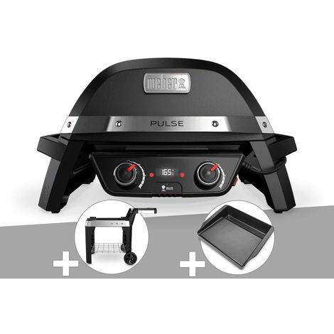 Barbecue électrique Weber Pulse 2000 + Chariot + Plancha
