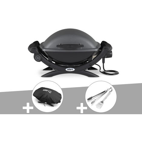 Barbecue électrique Weber Q 1400 + Housse + Kit Ustensile