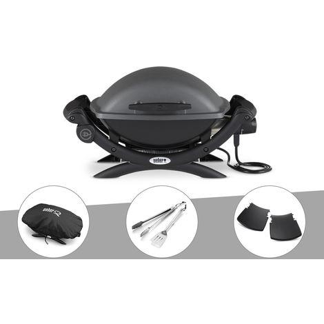 Barbecue électrique Weber Q 1400 + Housse + Kit Ustensile + Plan travail