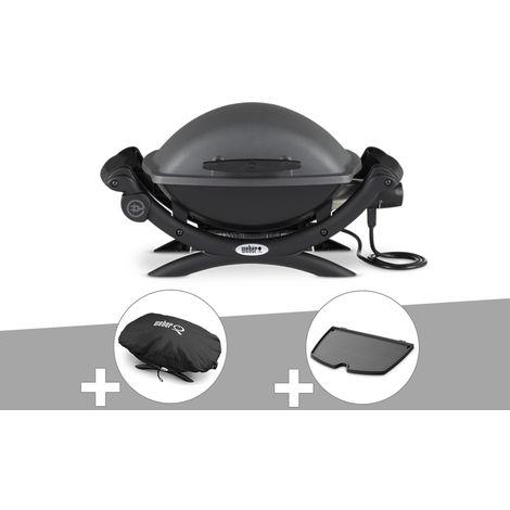 Barbecue électrique Weber Q 1400 + Housse + Plancha