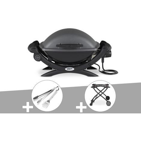 Barbecue électrique Weber Q 1400 + Kit Ustensile + Chariot