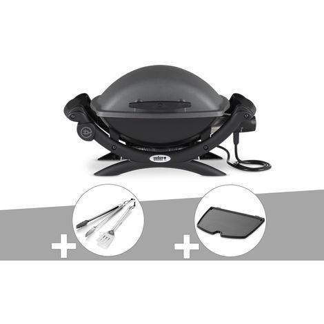 Barbecue électrique Weber Q 1400 + Kit Ustensile + Plancha