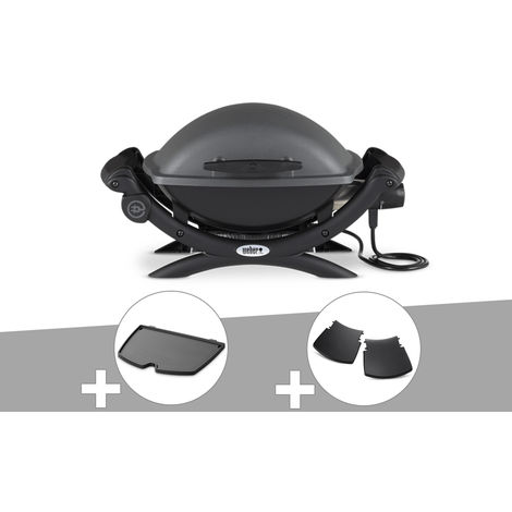 Barbecue électrique Weber Q 1400 + Plancha + Plan travail