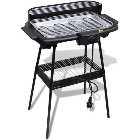 Tavolo Da Giardino Con Barbecue.Barbecue Elettrico Rettangolare Da Giardino Con Grill E Supporto
