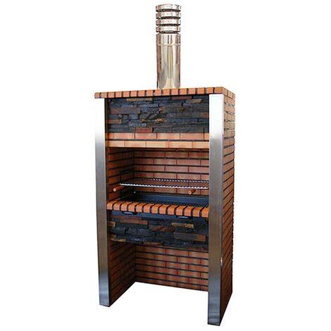 Barbecue en brique et inox Porto - Brique