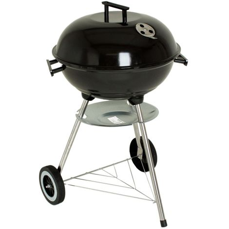Barbecue forme d'une boule gril bois jardin pieds acier inoxydable Harms 50442