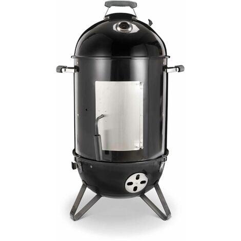 Barbecue fumoir au charbon de bois Ø44cm – Jacques – Smoker premium avec aérateurs. fumoir. gril. boite de fumage. noir