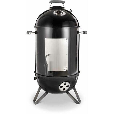 Barbecue fumoir au charbon – Jacques – Smoker premium avec aérateurs fumoir gril boite de fumage noir