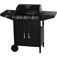 Barbecue gas Festa 4 - 3 burners including 1 lateral - 10.5kW - Black