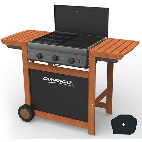 Barbecue gaz CAMPINGAZ Adelaide 3 Woody L Allumage Piezo Housse offerte