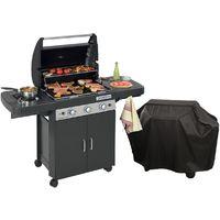 Barbecue gaz CAMPINGAZ LS DARK 3 Classic Allumage Piezo Housse offerte