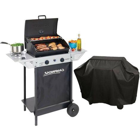 Barbecue gaz grill CAMPINGAZ XPERT100LS +Rocky + Housse offerte Cuisson pierre de lave - grille