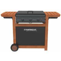 Barbecue gaz grill et plancha CAMPINGAZ Adelaide 3 Woody L 14 KW Piezo Grill/plancha + Housse offerte