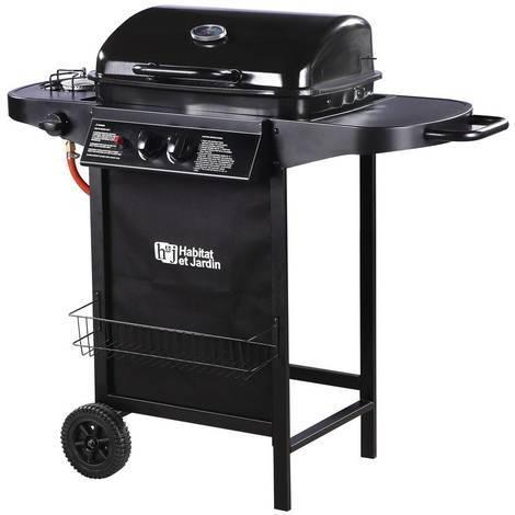 """Barbecue gaz """"Party 3"""" - 3 brûleurs dont 1 latéral - 9.38 kW - Noir"""