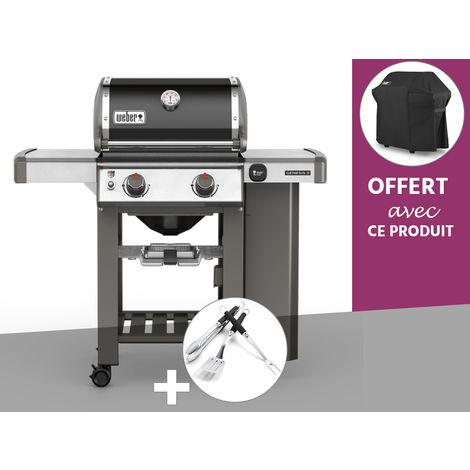 Barbecue gaz Weber Genesis II E-210 GBS Noir + Kit Ustensile + Housse OFFERTE