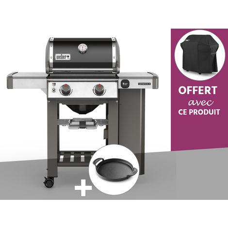 Barbecue gaz Weber Genesis II E-210 GBS Noir + Plancha + Housse OFFERTE