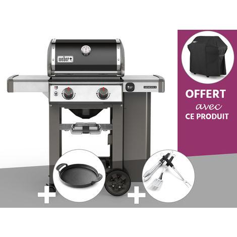 Barbecue gaz Weber Genesis II E-210 GBS Noir + Plancha + Kit Ustensile + Housse OFFERTE