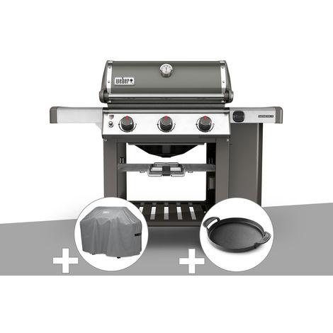 Barbecue gaz Weber Genesis II E-310 GBS Gris + Housse + Plancha