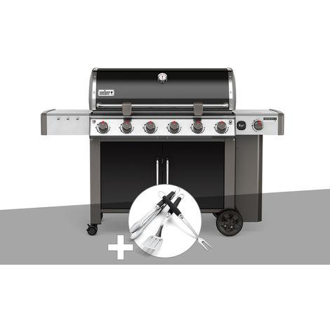 Barbecue gaz Weber Genesis II LX E-640 GBS Noir + Kit Ustensile