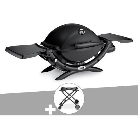 Barbecue gaz Weber Q 1200 Noir + Chariot