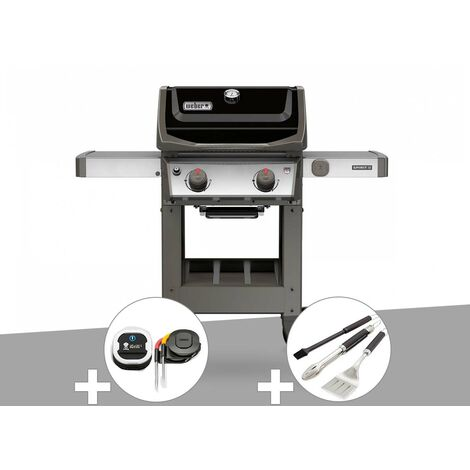 Barbecue gaz Weber Spirit II E-210 GBS + Thermomètre iGrill 3 + Kit ustensiles 3 pièces Better