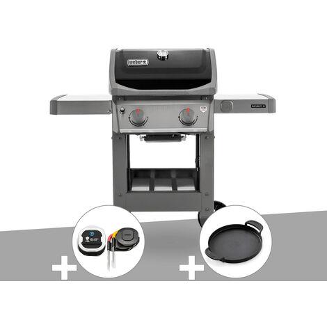 Barbecue gaz Weber Spirit II E-210 GBS + Thermomètre IGrill 3 + Plancha