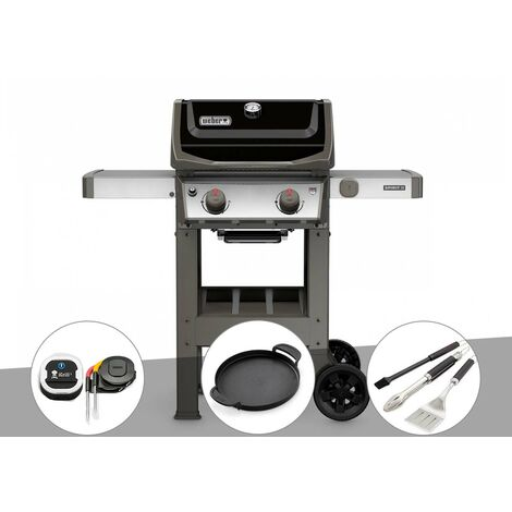 Barbecue gaz Weber Spirit II E-210 GBS + Thermomètre iGrill 3 + Plancha + Kit ustensiles 3 pièces Better