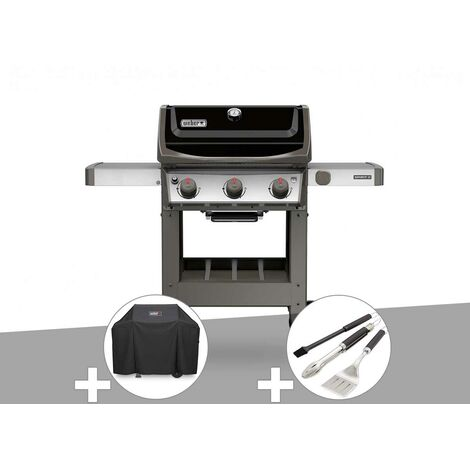 Barbecue gaz Weber Spirit II E-310 + plancha + Housse + Kit ustensiles 3 pièces Better