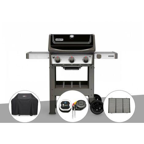 Barbecue gaz Weber Spirit II E-310 + plancha + Housse + Thermomètre iGrill 3 + 1/2 grille de cuisson