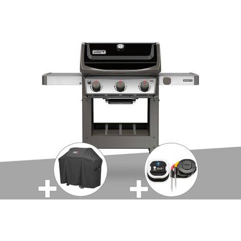 Barbecue gaz Weber Spirit II E-310 + plancha + Housse + Thermomètre IGrill 3