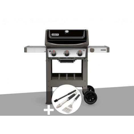 Barbecue gaz Weber Spirit II E-310 + plancha + Kit ustensiles 3 pièces Better