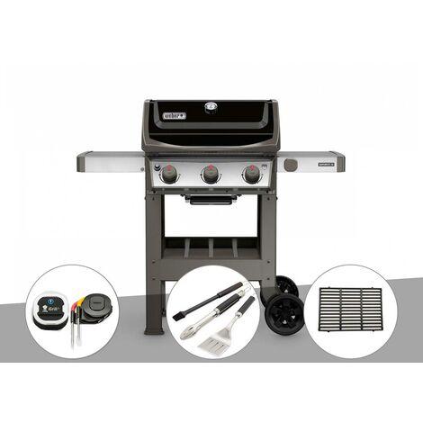 Barbecue gaz Weber Spirit II E-310 + plancha + Thermomètre iGrill 3 + Kit ustensiles 3 pièces Better + 1/2 grille de cuisson
