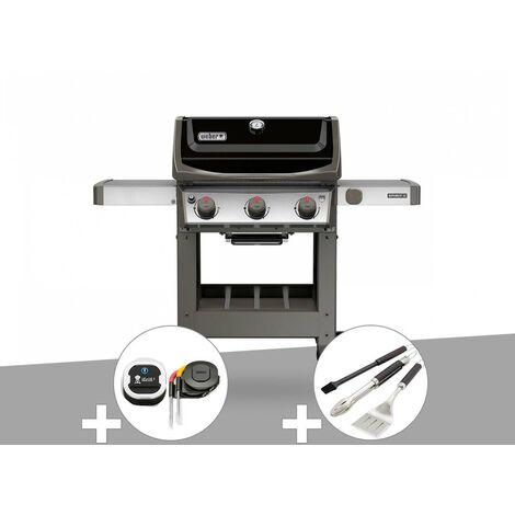 Barbecue gaz Weber Spirit II E-310 + plancha + Thermomètre iGrill 3 + Kit ustensiles 3 pièces Better