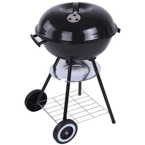 Barbecue Grill Trolley Metal Charcoal BBQ Kitchen Accessories Tools